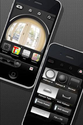 фото приложение рыбий глаз на айфон повторить